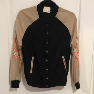 Dragon embroidered bomber